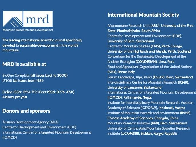 Le CIRM rejoint l'International Mountain Society