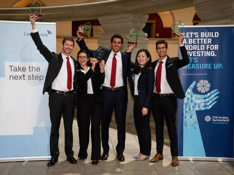 The team from HEC Lausanne wins the Swiss CFA Institute Research Challenge for the 7th time!