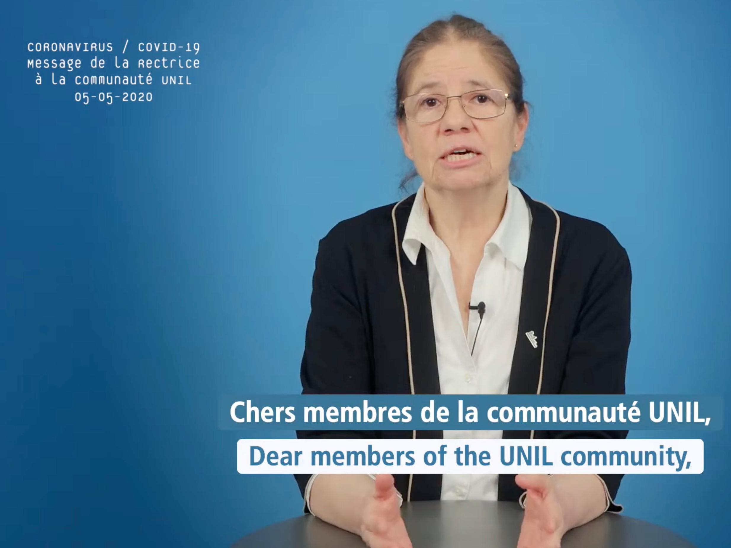 Video message from the Rector Nouria Hernandez (May 5th, 2020)