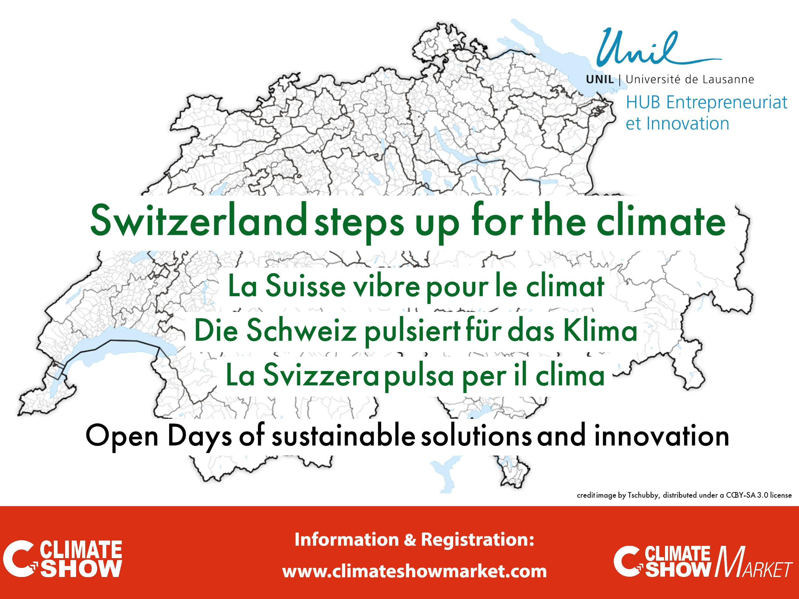 """Take part in the national initiative """"Switzerland steps up for the climate""""."""