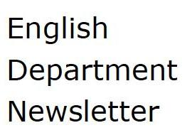 English Department Newsletter
