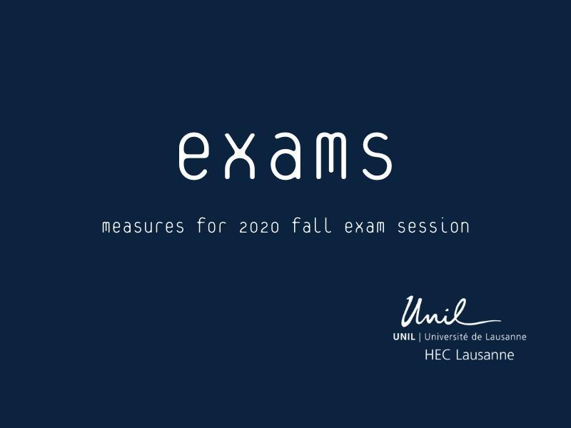 Organization of the 2020 Fall exam session