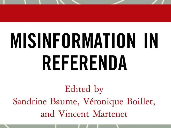Misinformation in Referenda