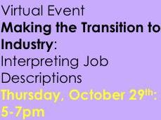 Making the transition to industry: Interpreting job descriptions