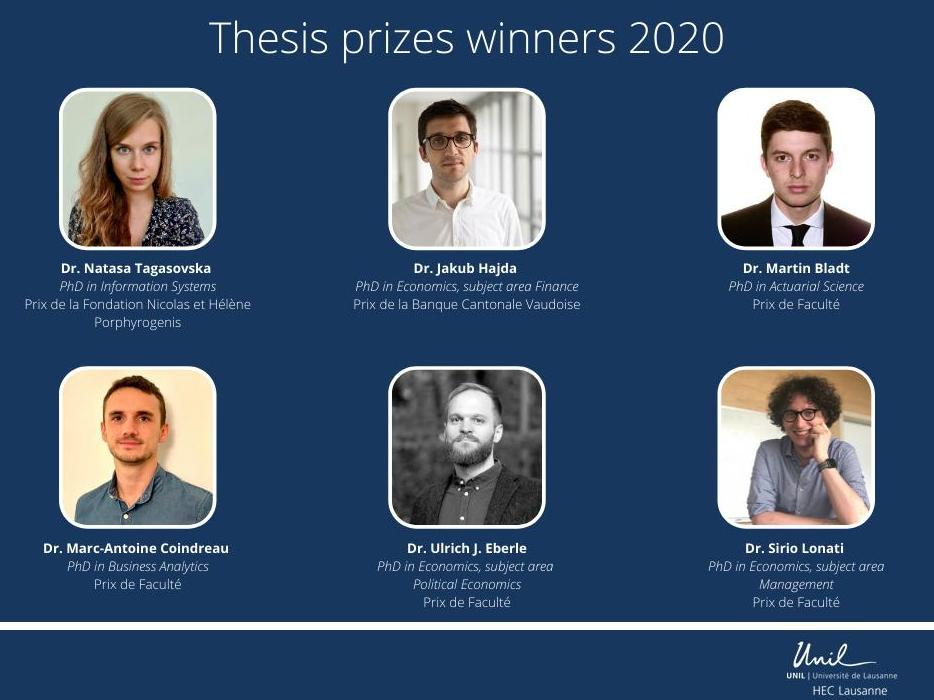 Academic excellence: thesis prizes winners 2020