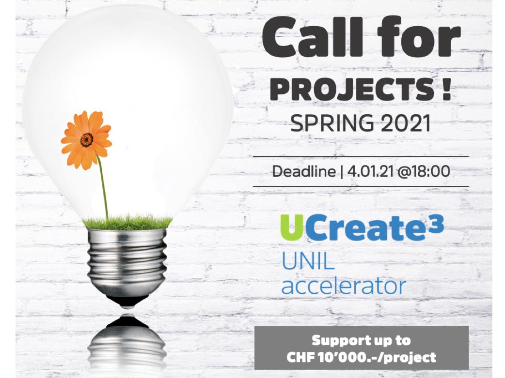 Call for projects UCreate3 : Do you want to turn your idea or research into reality?