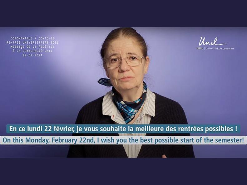 Video message from the Rector Nouria Hernandez (February 22nd, 2021)
