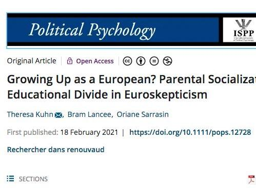 Growing Up as a European? Parental Socialization and the Educational Divide in Euroskepticism