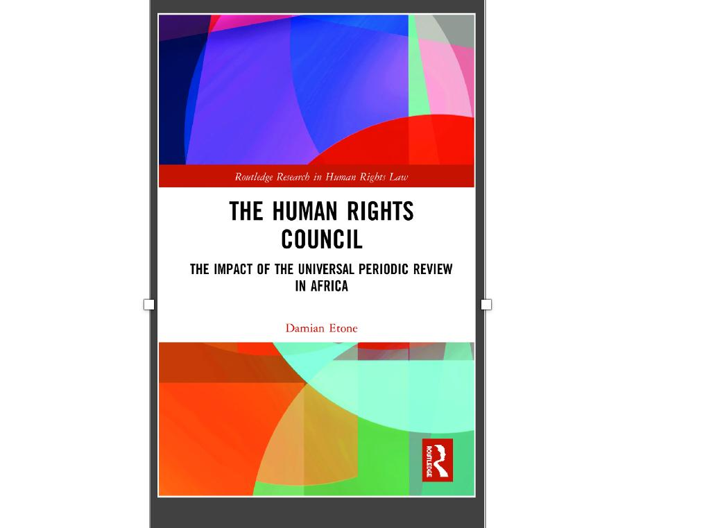 "Conférence du Dr Damian Etone ""The Impact of the Universal Periodic Review of the United Nations Human Rights Council"", le mercredi 24 mars 2021  de 10h15 à 11h00 via Zoom"