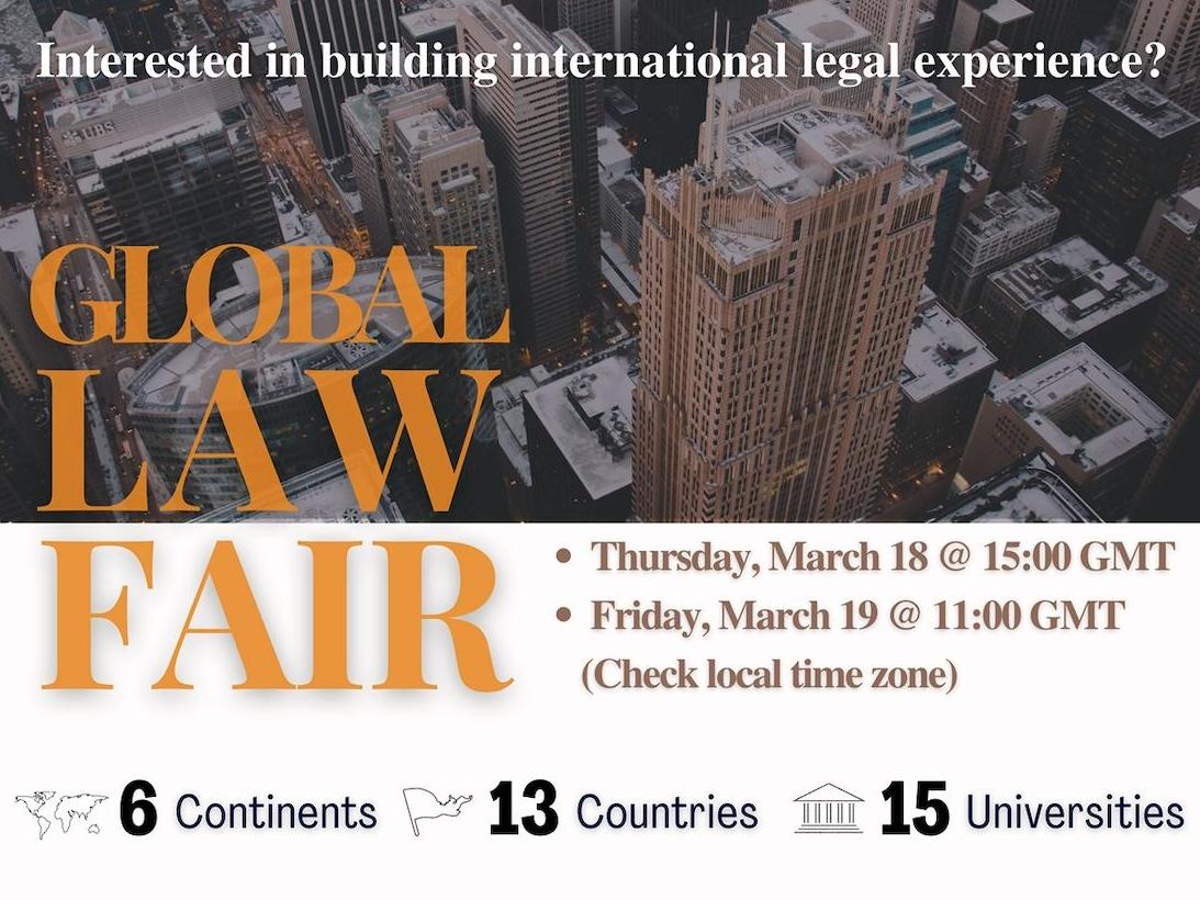 Global Law Fair - 18 ou 19 mars 2021