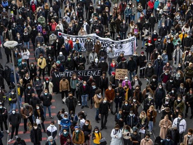 """Black lives matter"" in Lausanne"