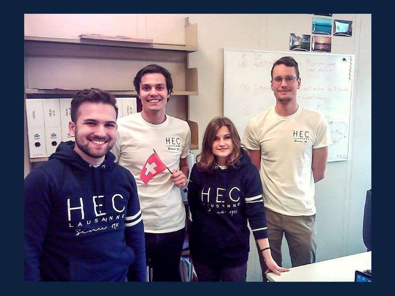 HEC Lausanne students at the 2021 Econometric Game
