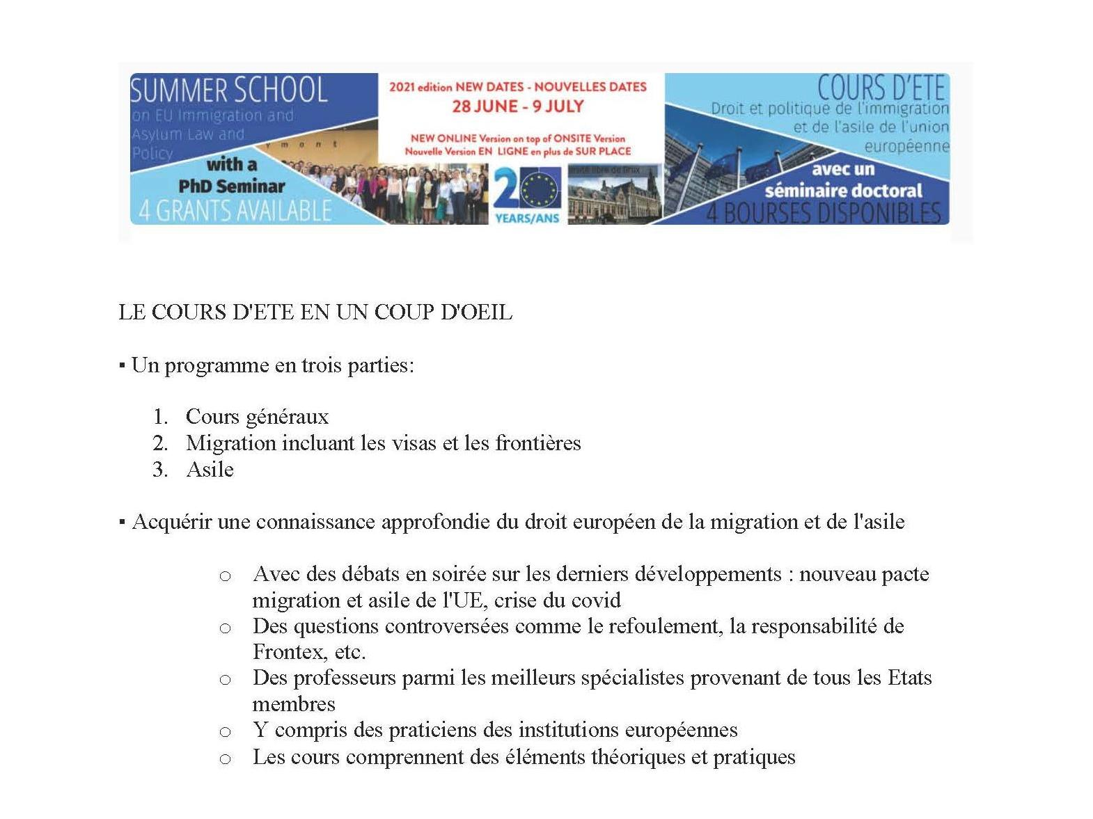 Odysseus Summer School on EU Immigration and Asylum Law and Policy (2021 Edition)