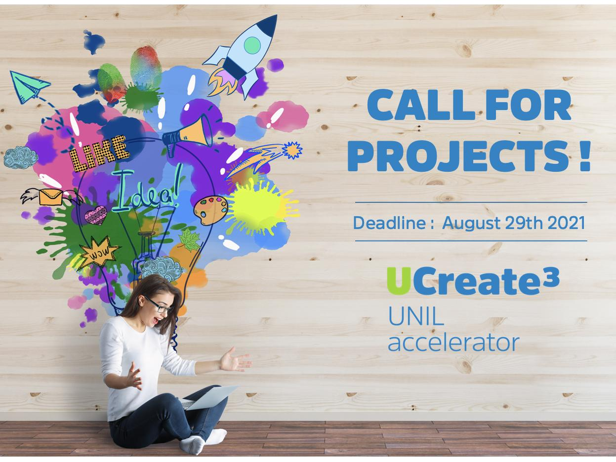 UCreate3 call for projects - join the UNIL interdisciplinary accelerator