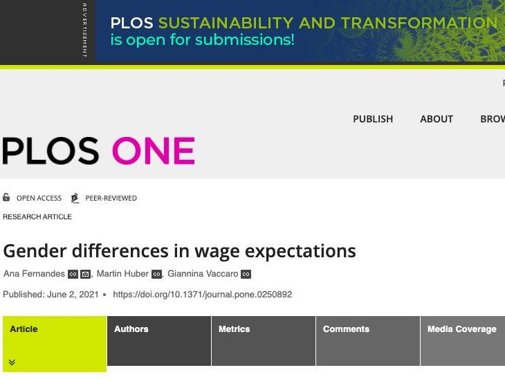 Gender differences in Wage Expectations