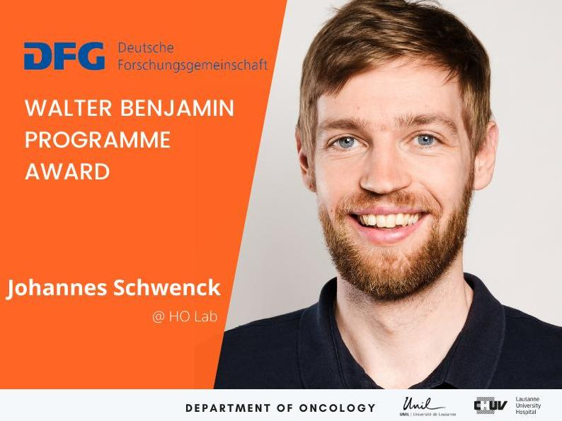 A German Research Foundation award  to Johannes Schwenk, the latest talent to join the Ho Lab.